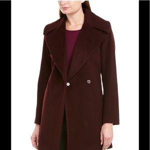 TRINA TURK Beverlee Wool Blend Wrap Coat